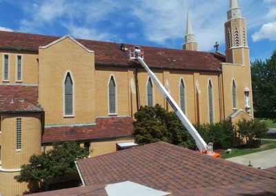 Historical Church Roof in Mcalester, Oklahoma