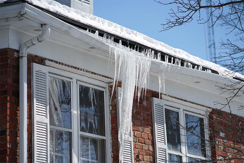 Gutter Damage From Ice Dam