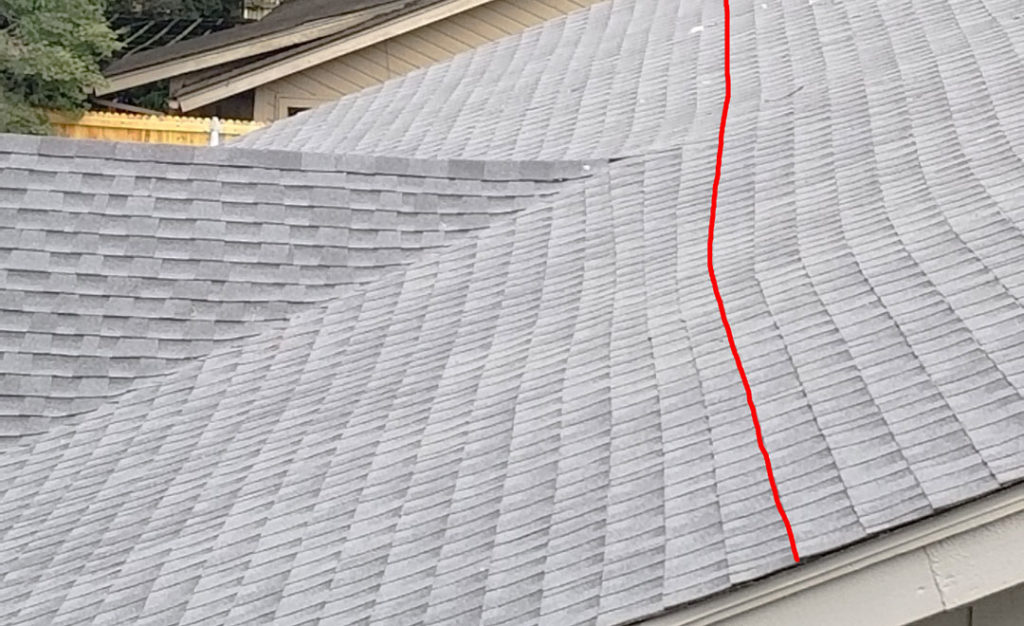 Crooked Shingle Placement a Sign of Bad Roofing